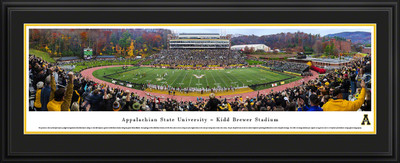 Appalachian State Mountaineers Panoramic Photo Deluxe Matted Frame - 50 Yard Line   Blakeway   APSU3D