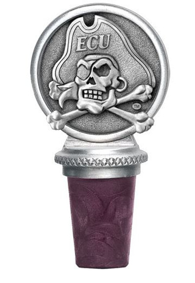 East Carolina Pirates Bottle Stopper | Heritage Pewter | BS10187