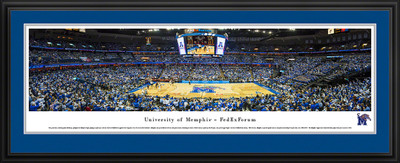 Memphis Tigers Panoramic Photo Deluxe Matted Frame  | Blakeway | UMEM1D