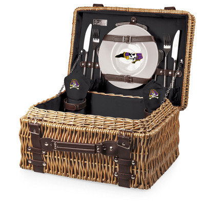 East Carolina Pirates Champion Picnic Basket - Black | Picnic Time | 208-40-179-874-0