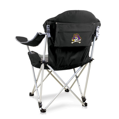 East Carolina Pirates Reclining Camp Chair - Black | Picnic Time | 803-00-175-874-0