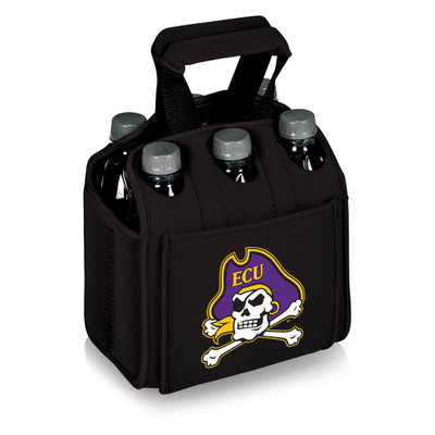 East Carolina Pirates 6-Pack Cooler Caddy Tote | Picnic Time | 608-00-179-874-0