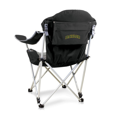 Baylor Bears Reclining Camp Chair - Black | Picnic Time | 803-00-175-924-0