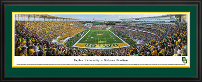 Baylor Bears Panoramic Photo Deluxe Matted Frame  | Blakeway | BAYU2D
