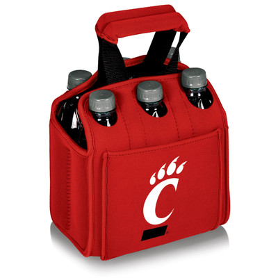 Cincinnati Bearcats 6-Pack Cooler Caddy Tote - Red | Picnic Time | 608-00-100-664-0