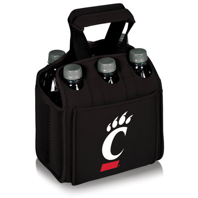 Cincinnati Bearcats 6-Pack Cooler Caddy Tote -Black | Picnic Time | 608-00-179-664-0