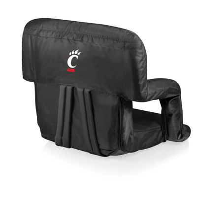 Cincinnati Bearcats Black Ventura Portable Seat | Picnic Time | 618-00-179-664-0
