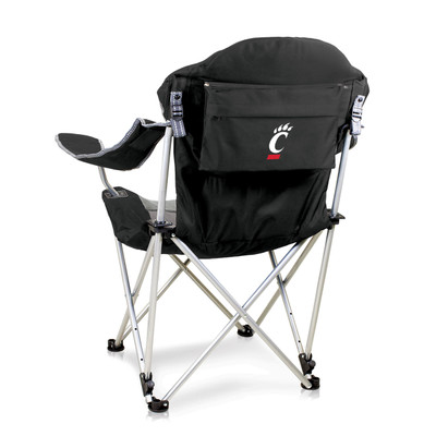 Cincinnati Bearcats Reclining Camp Chair - Black | Picnic Time | 803-00-175-664-0
