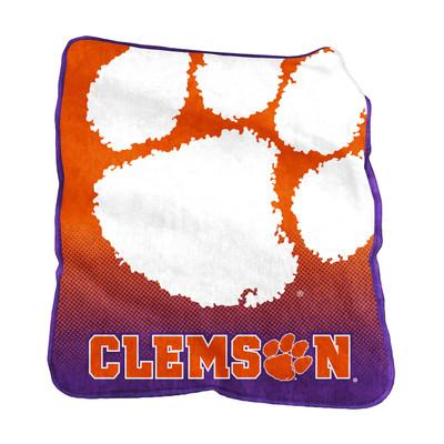 Clemson Tigers Raschel Throw Blanket | Logo Chair | 123-26A