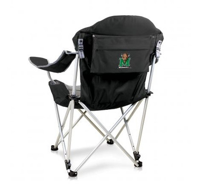 Marshall Thundering Herd Reclining Camp Chair - Black | Picnic Time | 803-00-175-894-0