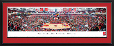 NC State Wolfpack Panoramic Photo Deluxe Matted Frame - Basketball  | Blakeway | NCSU2D