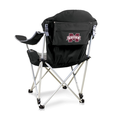 Mississippi St. Bulldogs Reclining Camp Chair | Picnic Time | 803-00-175-384-0