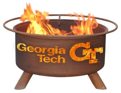 Georgia Tech Yellow Jackets Portable Fire Pit Grill   Patina   F212