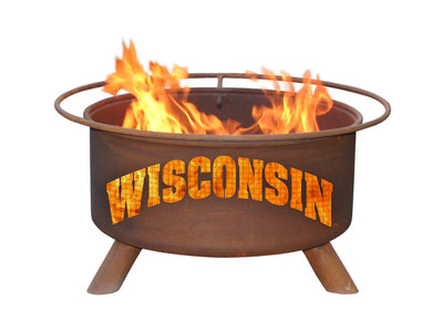 Wisconsin Badgers Portable Fire Pit Grill | Patina | F217
