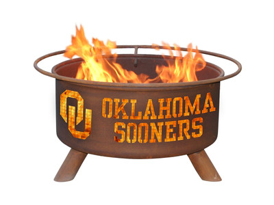 Oklahoma Sooners Portable Fire Pit Grill | Patina | F218