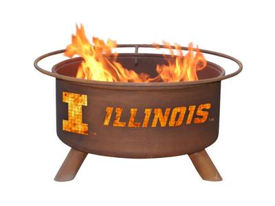Illinois Fighting Illini Portable Fire Pit Grill   Patina   F220