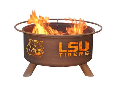 LSU Tigers Portable Fire Pit Grill | Patina | F221