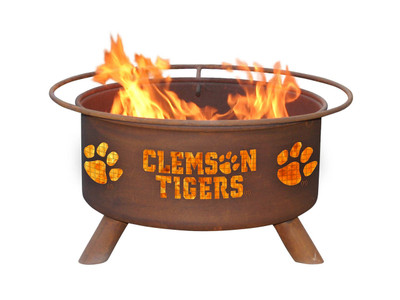 Clemson Tigers Portable Fire Pit Grill | Patina | F222