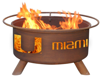Miami Hurricanes Portable Fire Pit Grill | Patina | F225
