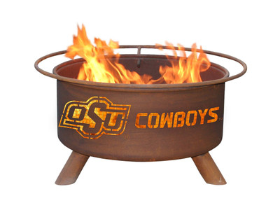 Oklahoma State Cowboys Portable Fire Pit Grill | Patina | F227