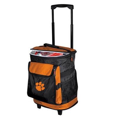 Clemson Tigers Rolling Cooler | Logo Chair | 123-57B-1