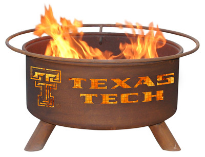 Texas Tech Red Raiders Portable Fire Pit Grill | Patina | F233