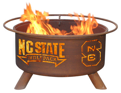 NC State Wolfpack Portable Fire Pit Grill | Patina | F237