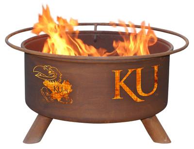 Kansas Jayhawks Portable Fire Pit Grill | Patina | F239