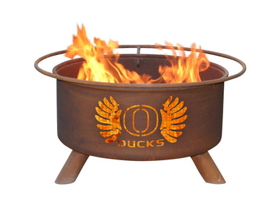 Oregon Ducks Portable Fire Pit Grill | Patina | F245
