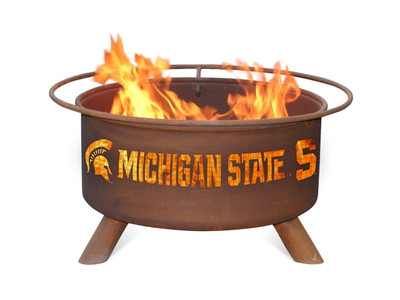 MSU Spartans Portable Fire Pit Grill | Patina | F403