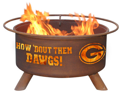 Georgia Bulldogs Portable Fire Pit Grill | Patina | F404