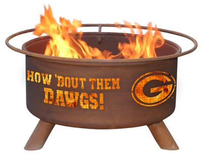 Georgia Bulldogs Portable Fire Pit Grill | Patina | F404