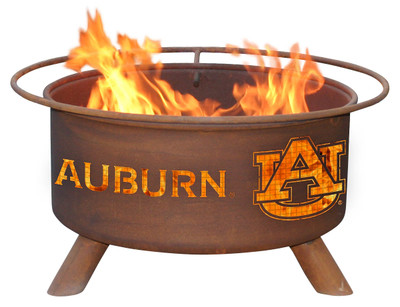 Auburn Tigers Portable Fire Pit Grill | Patina | F405