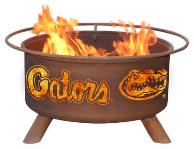 Florida Gators Portable Fire Pit Grill   Patina   F423