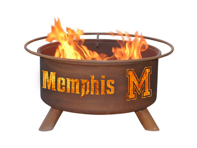 Memphis Tigers Portable Fire Pit Grill | Patina | F470