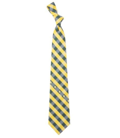 Baylor Bears Woven Poly Check Tie | Eagles Wings | 5203