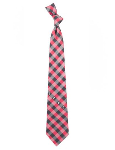 Cincinnati Bearcats Woven Poly Check Tie | Eagles Wings | 5198