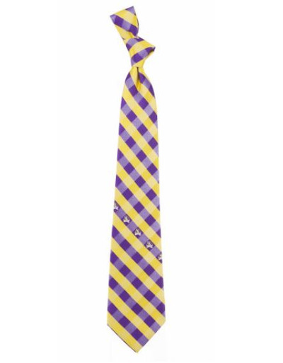 East Carolina Pirates Woven Poly Check Tie   Eagles Wings   9494