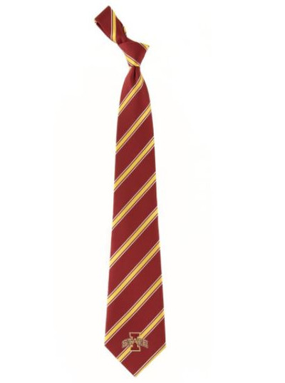 Iowa State Cyclones Woven Poly Tie   Eagles Wings   6240