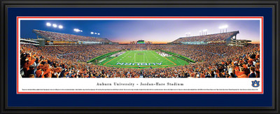 Auburn Tigers Panoramic Photo Deluxe Matted Frame - End Zone | Blakeway | AUB2D