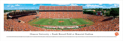 Clemson Tigers Panoramic Photo Print - 50 Yard Line | Blakeway | CLEM1