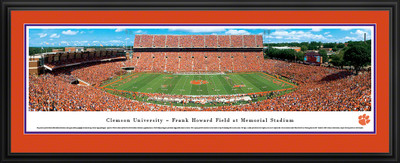 Clemson Tigers Panoramic Photo Deluxe Matted Frame - 50 Yard Line | Blakeway | CLEM1D
