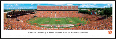 Clemson Tigers Standard Frame Panoramic Photo - 50 Yard Line | Blakeway | CLEM1F