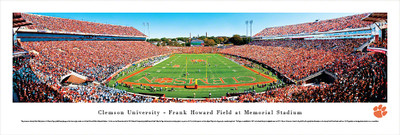 Clemson Tigers Panoramic Photo Print - End Zone | Blakeway | CLEM2