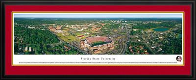 FSU Seminoles Panoramic Photo Deluxe Matted Frame - Aerial View | Blakeway | FSU1D