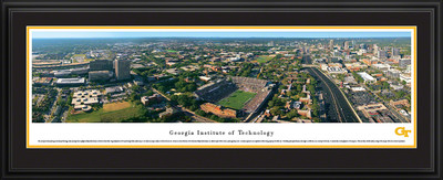 Georgia Tech Yellow Jackets Panoramic Photo Deluxe Matted Frame - Aerial View | Blakeway | GAT1D