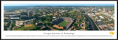 Georgia Tech Yellow Jackets Standard Frame Panoramic Photo - Aerial View | Blakeway | GAT1F