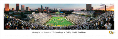 Georgia Tech Yellow Jackets Panoramic Photo Print - End Zone | Blakeway | GAT2