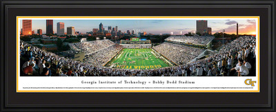 Georgia Tech Yellow Jackets Panoramic Photo Deluxe Matted Frame - End Zone | Blakeway | GAT2D