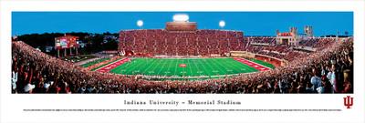 Indiana Hoosiers Panoramic Photo Print - 50 Yard Line   Blakeway   INU1